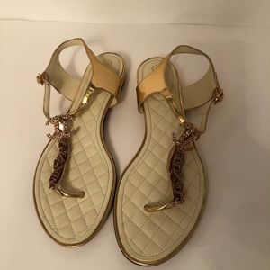 Authentic Rose gold Chanel sandals